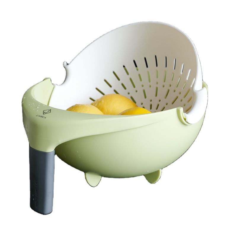 New Product Minimalist Style Vegetable Fruit Washing Bowl Drain Basket Kitchen Plastic Drain Basket