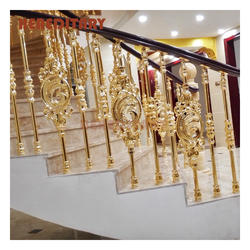 Private Villa Aluminum Casting Balustrades Handrails Railing For Circular Staircase