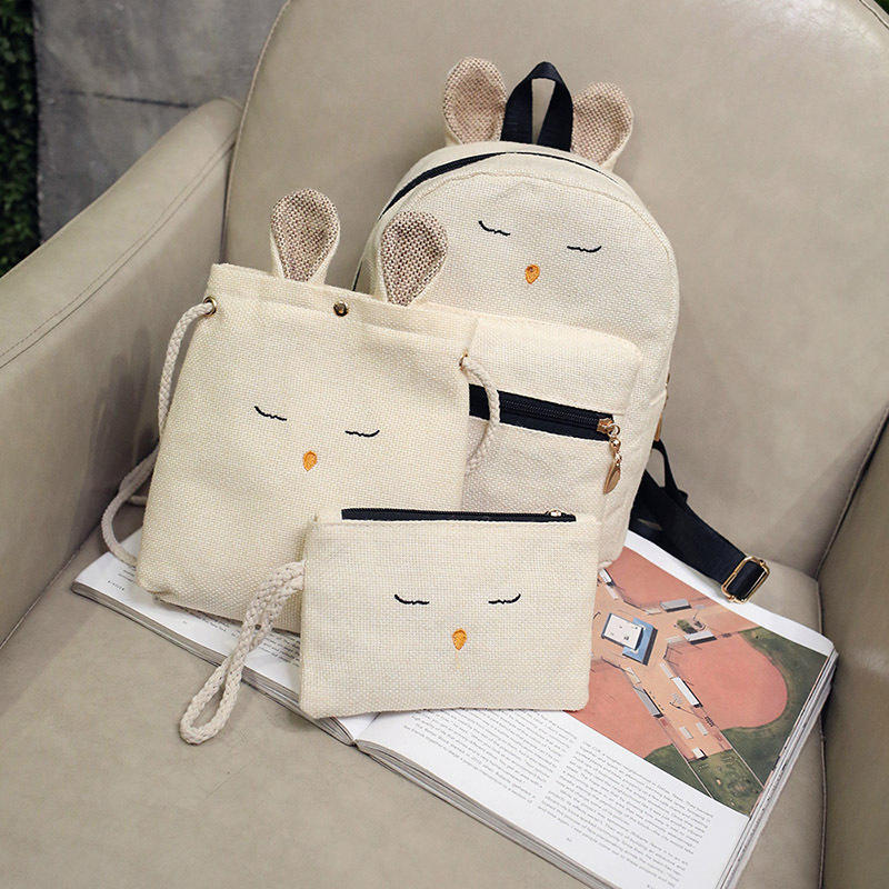 2019 Hot Sales Cute Korean school backpack bag sets for kids