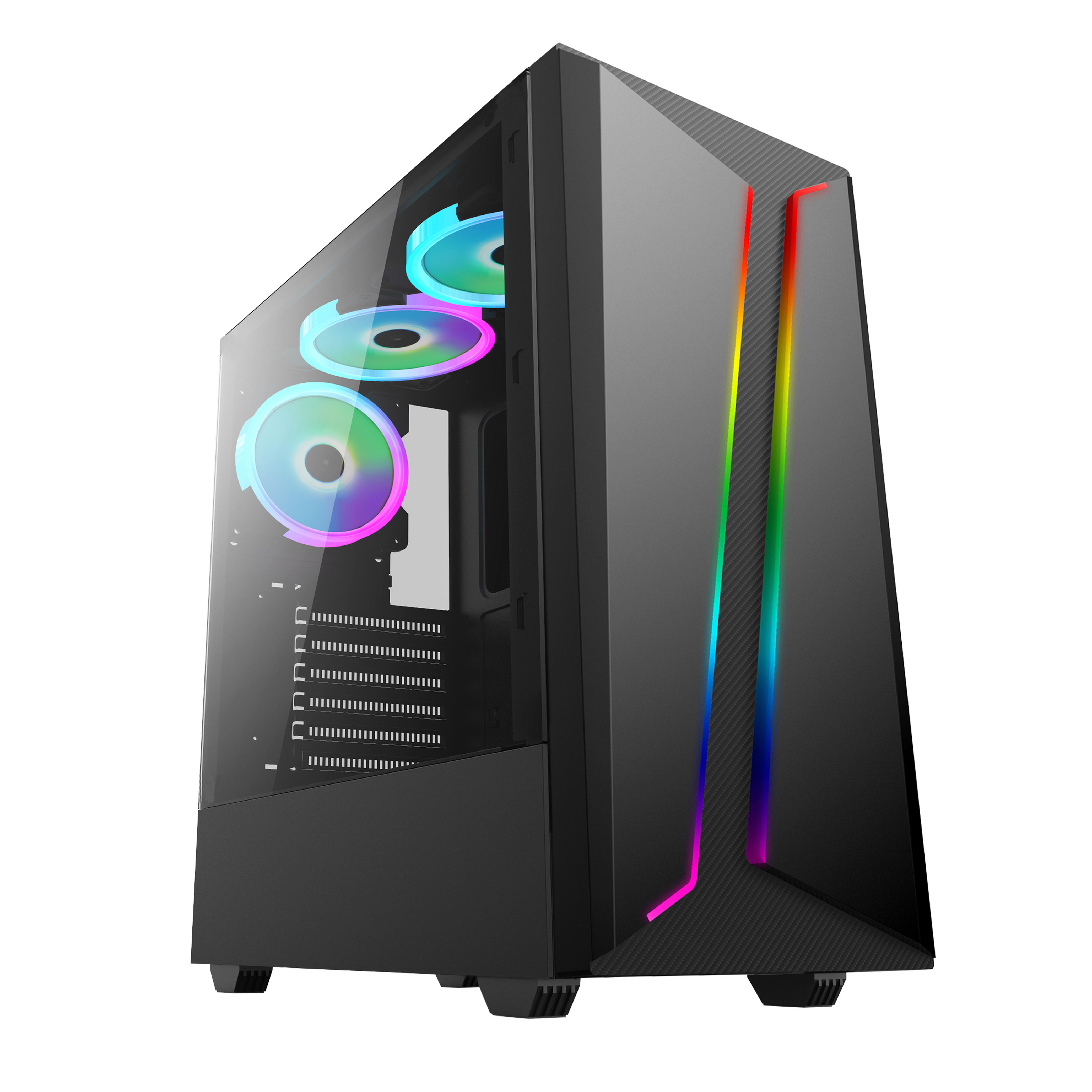 case for pc OEM brand compute table all in one customs logo custom transparent side panel full tower ATX computer pc case gaming
