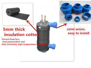 Water to air heat exchanger/sea water condenser/gas water heater heat exchanger and evaporator coil