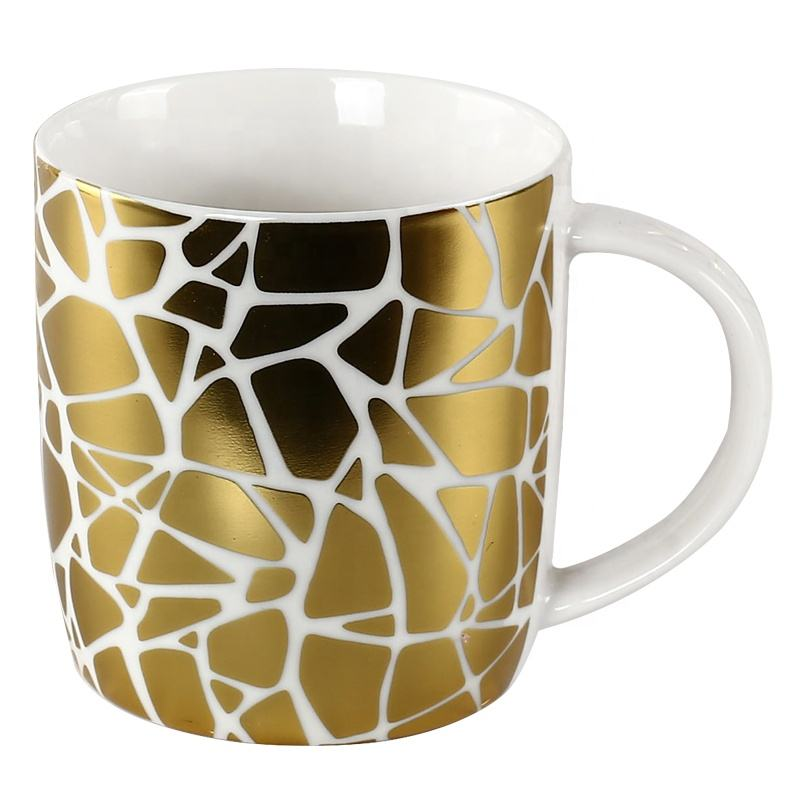 Golden Decal Printing Keramische Porselein Mokken <span class=keywords><strong>Thee</strong></span> Holiday gift Turkse Koffie Cups