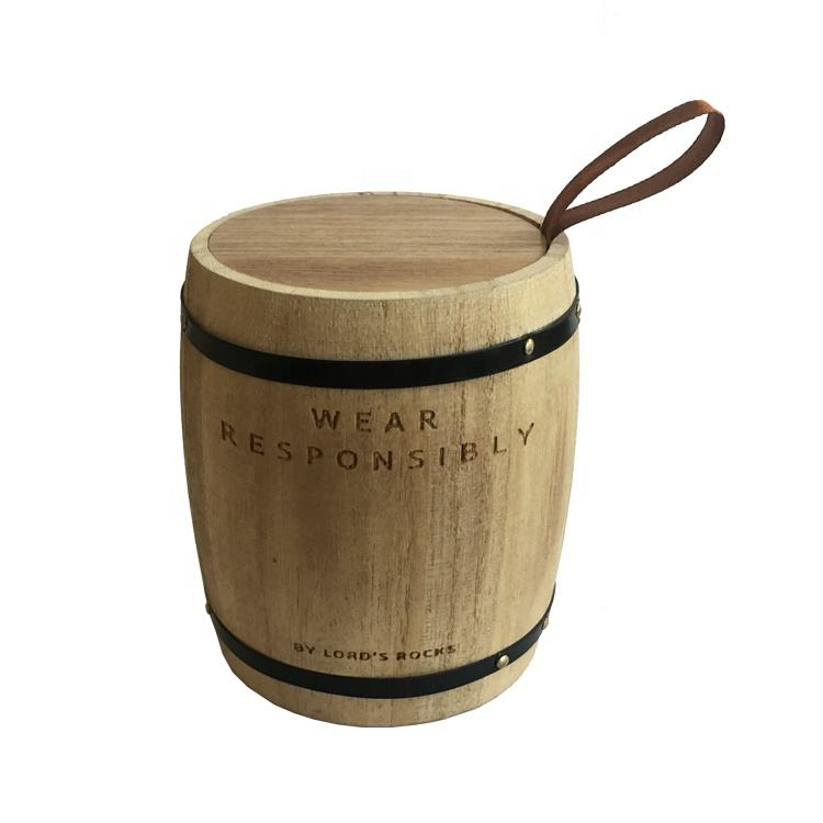New design customized pine beech plain wooden color storage wooden coffee barrels