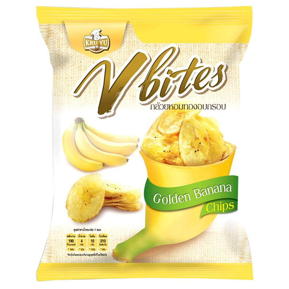 Bulk Supply V-Bites Natural Ingredients Snack Organic Banana Chips from Thailand