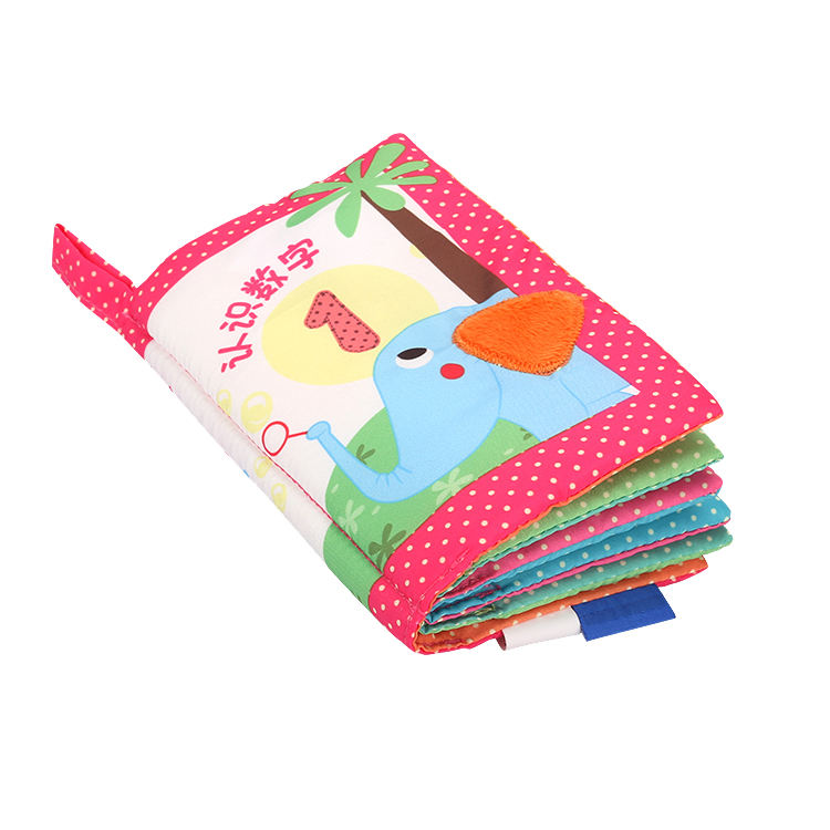 Custom Baby Cloth Book Number Fabric Books Gift Set For Newborn
