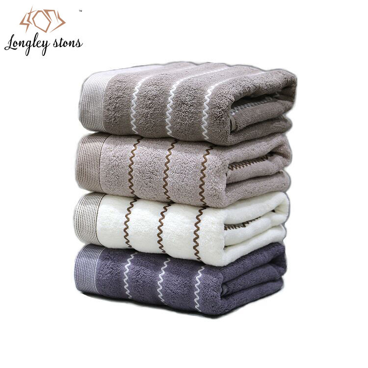 Pure Cotton Queen-size Matrix Grey Bath Towel