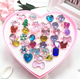 New Fashion Children kids resin cartoon cute Rings Jewelry Plastic Adjustable Jewelry Ring Set accessory