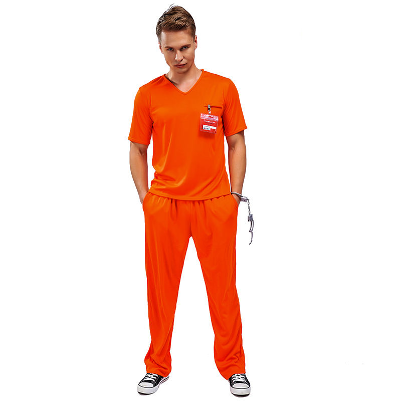 2020 New Design Carnival Part Adult Stage Performance Cosplay Clothing Prisoner Costume For Men