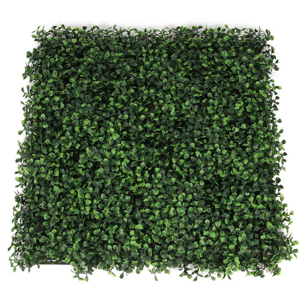 Wholesale greenery wall plastic foliage faux artificial boxwood mat grass panel for home garden decoration