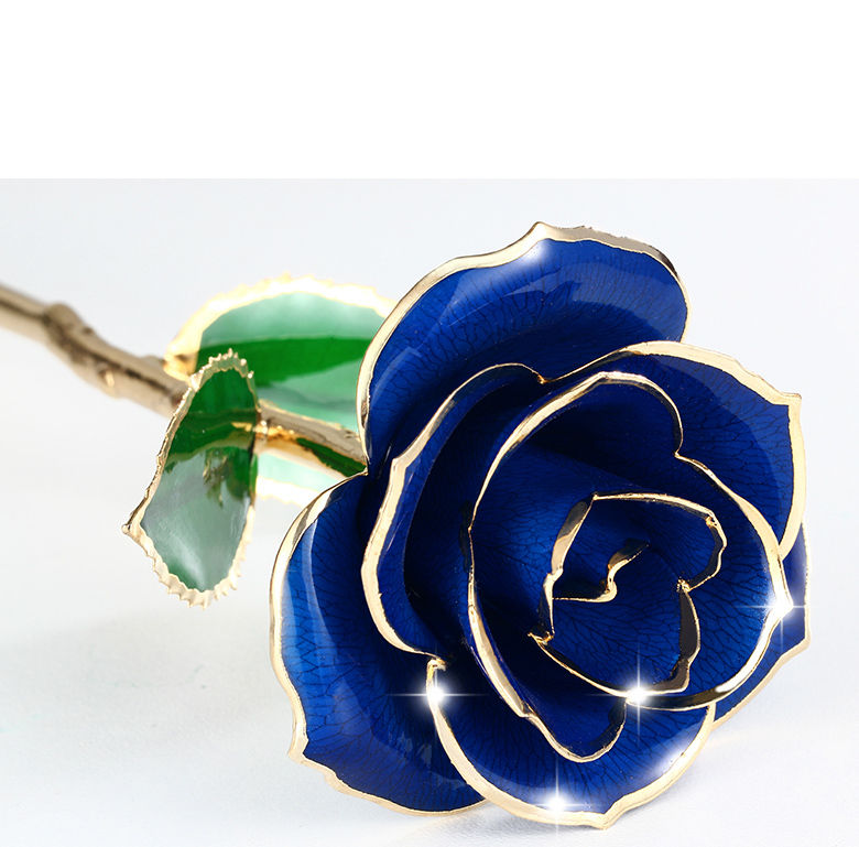 Golden Gedoopt 24K Gold Rose Bewaard Rose Real Craft Valentijnsdag Gift 24K Golden Plated Rose Voor bruiloft Decor