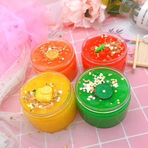 colorful crystal mud clay fluffy clay crystal slime toys