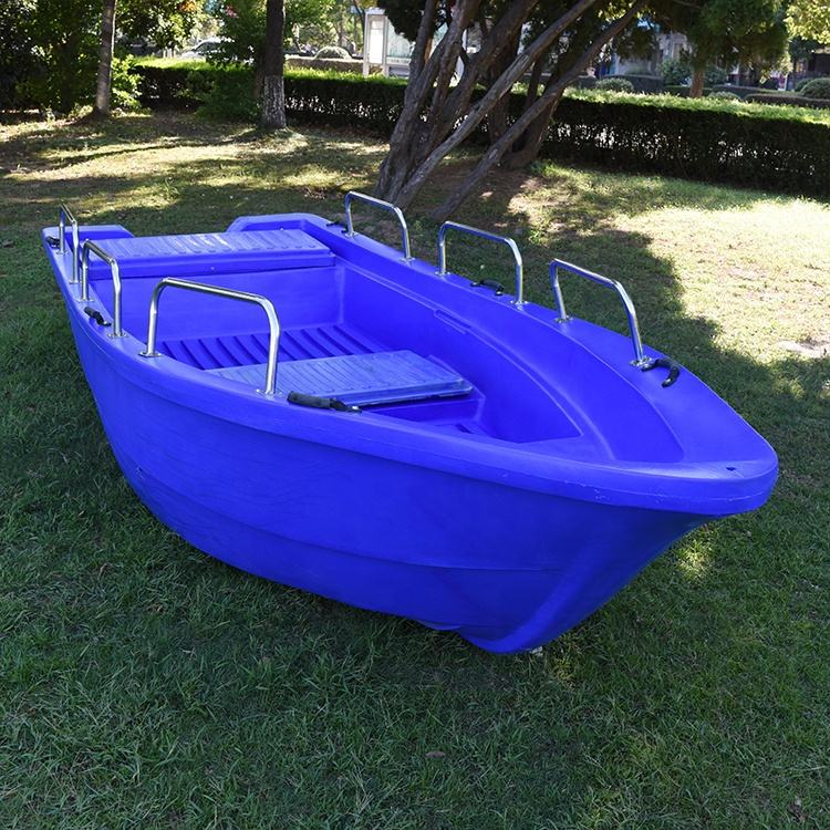 10 Persons 4.3M Solid High Density PE Plastic Large Fishing Boat for Sea water used
