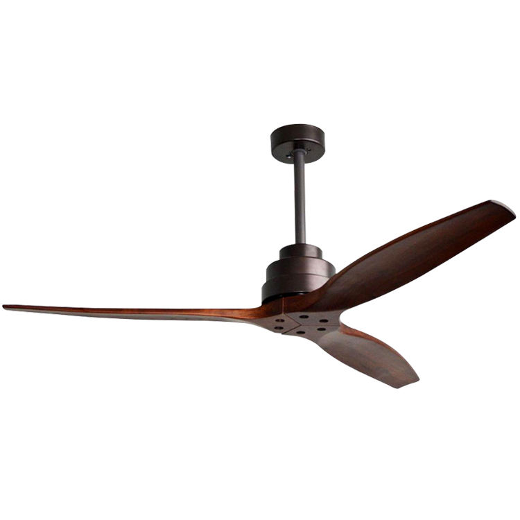 Energy Efficient 110 220 Volt Low Watt Inverter AC DC Voltage 60 ''Wooden Blades National Ceiling Fan With Remote Control