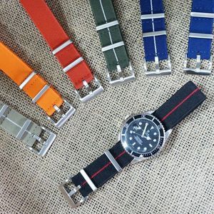 JUELONG Marine Nationale Élastique NATO Sangle 20mm 22mm Tissé + Bandes de Montre