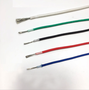 Flexible silicone rubber insulated stranded fiberglass braided copper electricity cable wire