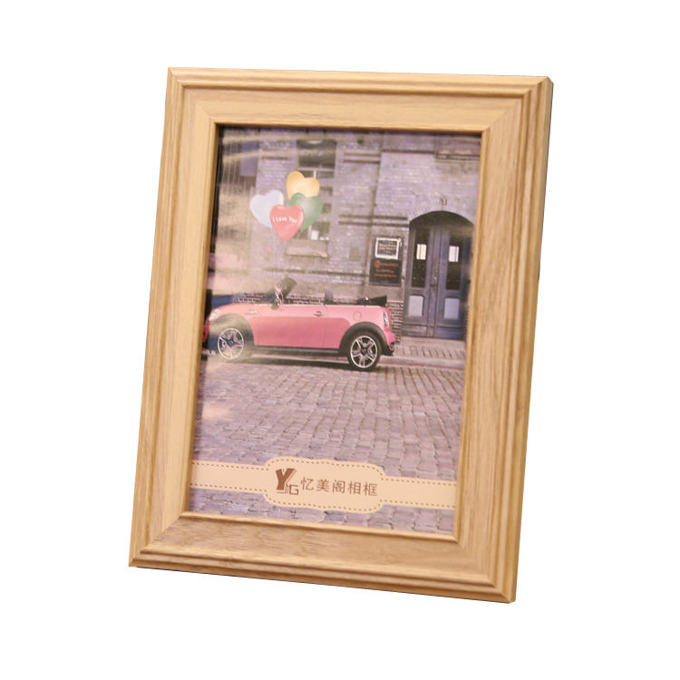 Customized thin wood photo frame table top picture frame 4x6""