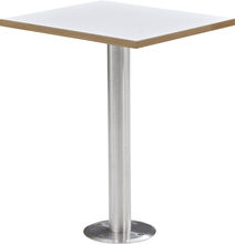 Built-up fixed restaurant dining square table in white imported dinner table restaurant