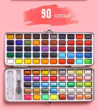 90 Colors Best Selling DIY Watercolor Paints Pan Set with Brush
