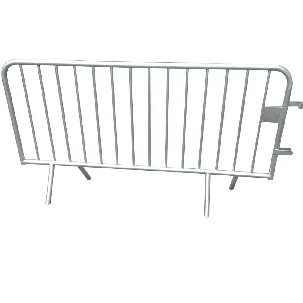 China Cheap New Q235 Galvanized Steel Mobile Event Concert Crowd Control Security Road Barrier