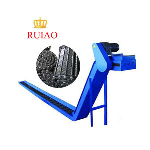 Top quality transport waste CNC conveyor steel hinged belt chain chip conveyor