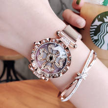 HOT Sale women watches ladies magnetic clock fashion crystal female quartz wristwatches female magnet fashion quartz watch