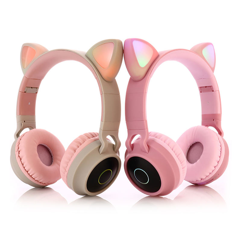 2020 new arrival China hot selling beatstudio headset noise cancelling gaming cat ears wireless bluetooth earphone headphones