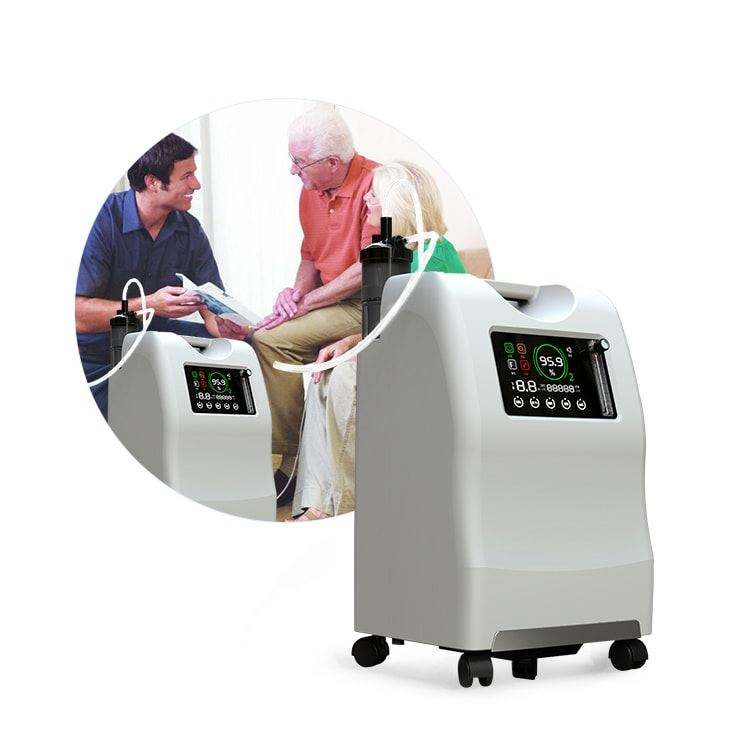 New Arrival portable oxygen generator 2020 Big LCD Display Hight Purity Low Noise Medical 10l Oxygen Concentrator Generator