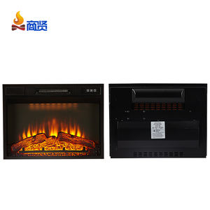 Free standing insert electric fireplace with mantel