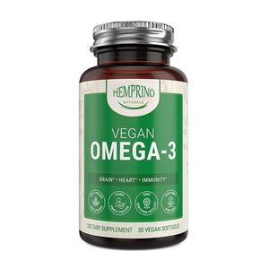 Private label DHA and EPA supplement plant based Vegan omega 3 Algae Oil Capsules For Wholesale