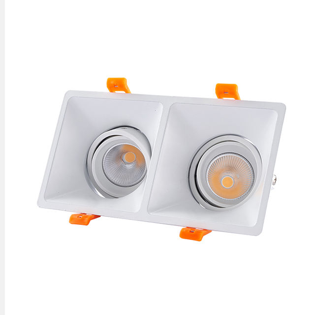 Dimmable Recessed LED Grille Light 14w Square Office Spotlight