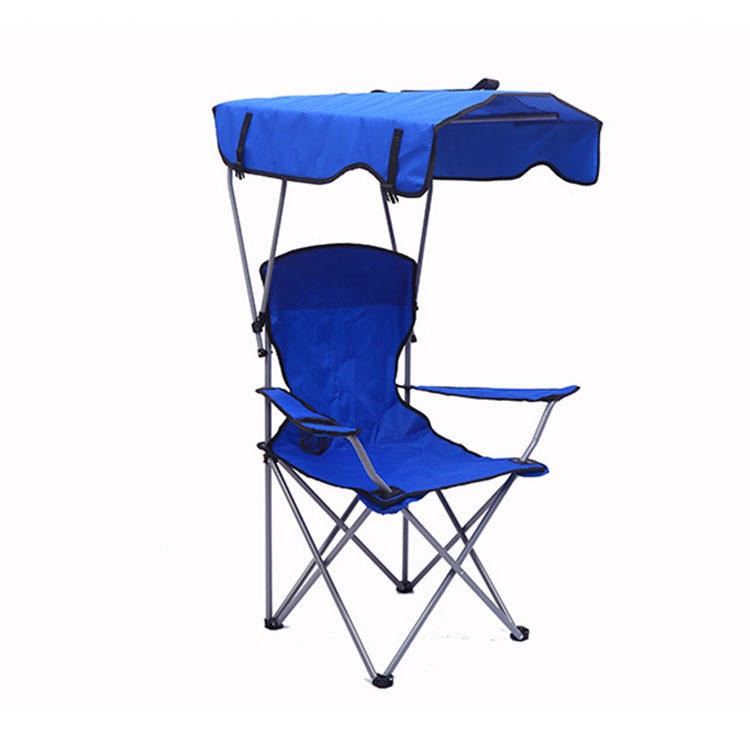 Outdoor portable folding Oxford cloth beach rest fishing chair with tent umbrella