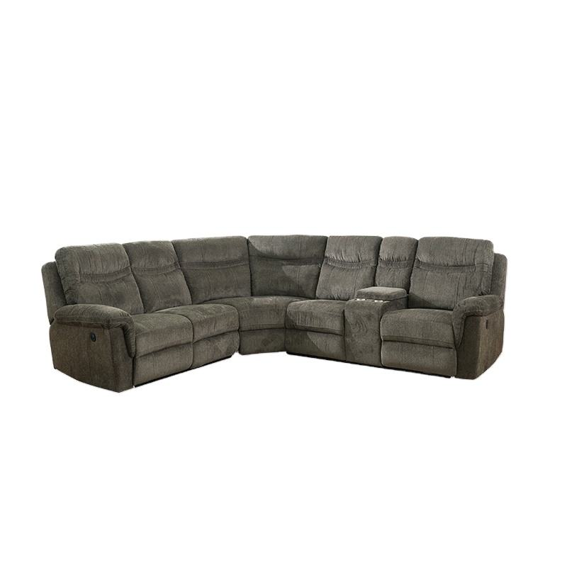 Customer design modern corner sofa recliner chair system price
