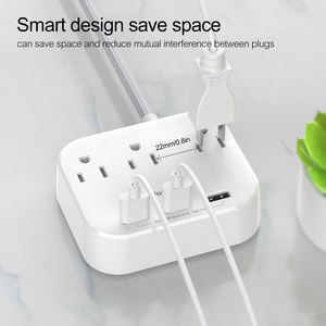 OEM surge protector USB power strip extender electric multiple plug fast charging station way ac socket universal outlet
