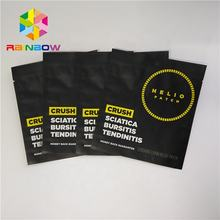 Top open private label small mylar aluminum foil bag heat seal cosmetic packaging sample packet with tear notches