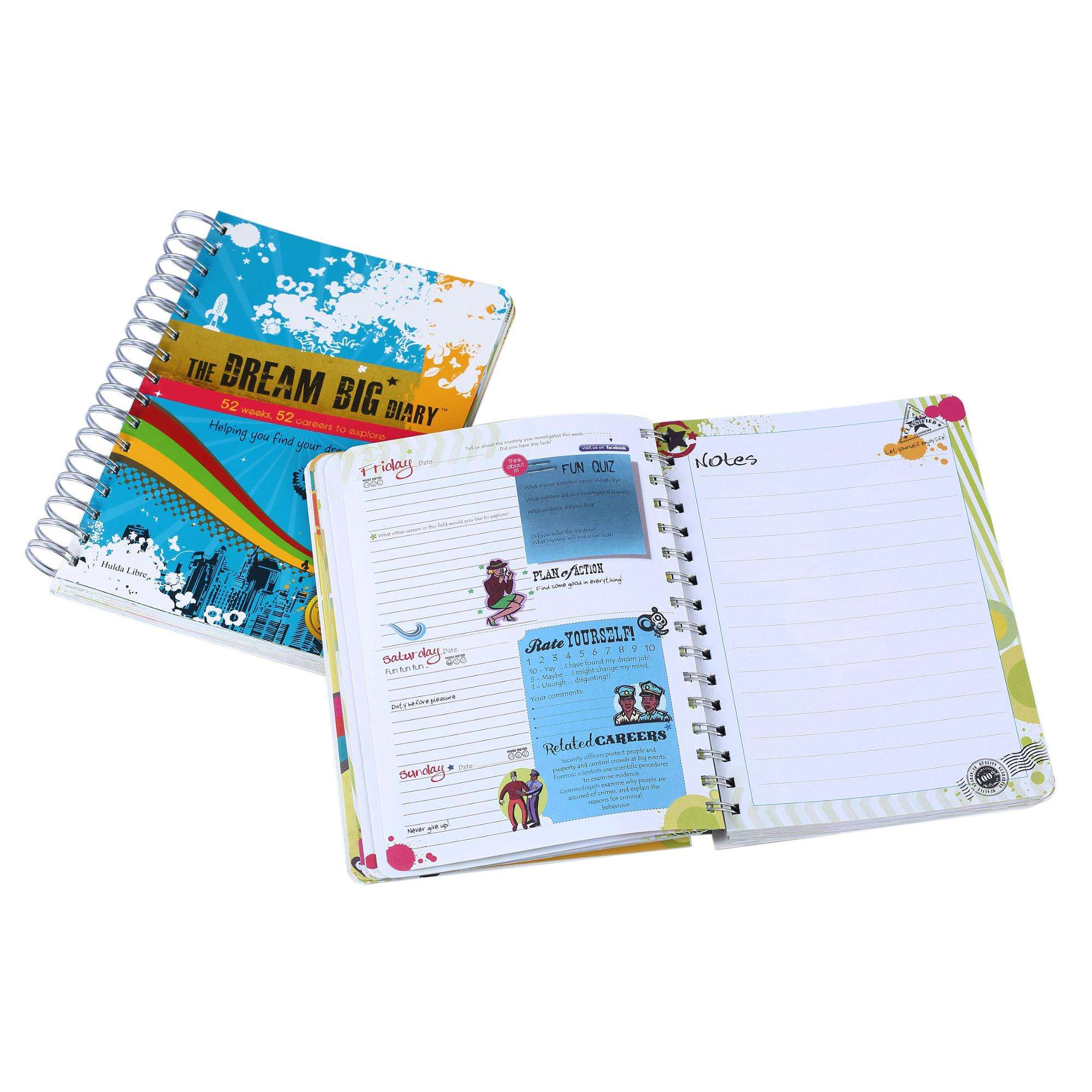 Hot sale B5 A5 A6 wholesale custom spiral notebook China Manufacturer Custom Printing Travelers Spiral Journal Diary