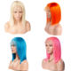 Wholesale Pink Orange Blue Red Grey Turquoise 613 Blond Color Wig Brazilian Virgin Human Hair Long Colored Lace Frontal Bob Wig