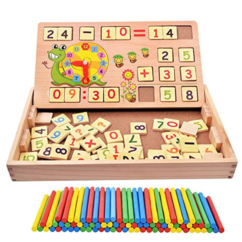Wooden Early Math Educational Toys Multi-function Digital Stick Operation Learning Toys