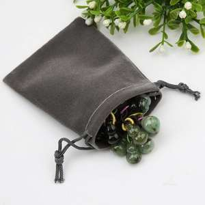 Wholesale Customized velvet Bags Drawstring Gift Bags suede Pouch Packaging Bags