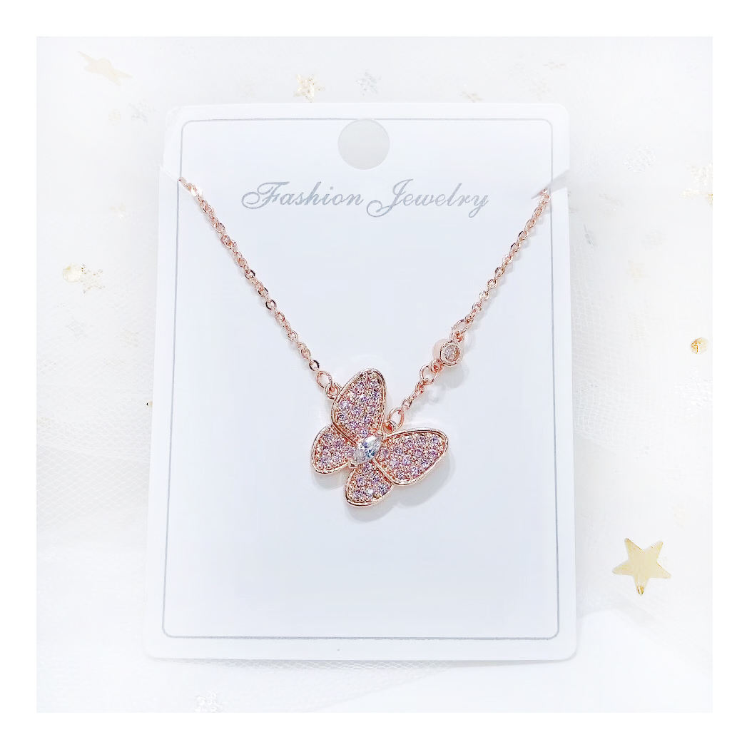 Butterfly Necklace Cubic Zircon for 2021 fashion jewelry