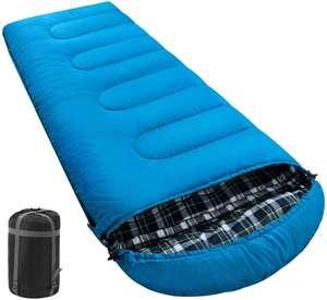 BSONWAY Camping Sleeping Bag for Adults Youth 3 Season Lightweight  Waterproof  Cotton Sleeping Bag for Backpacking  Hiking