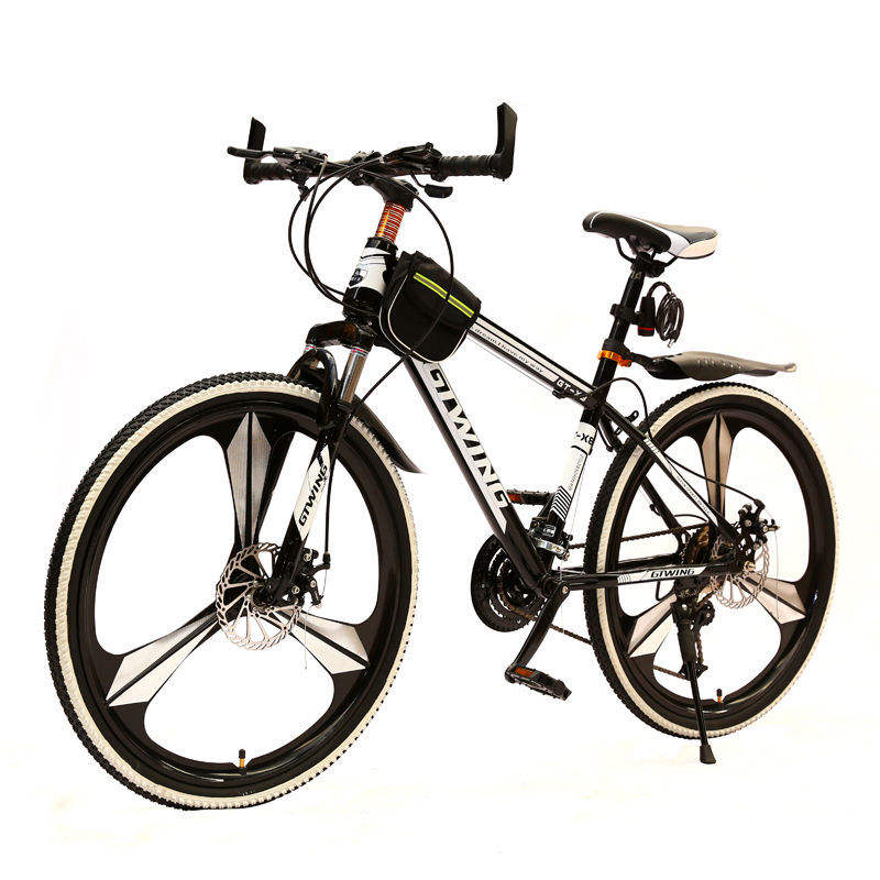 "Mountain bike 24 ""26"" double disc brake 21/24/27 speed full suspension man woman students racing road bicycle"
