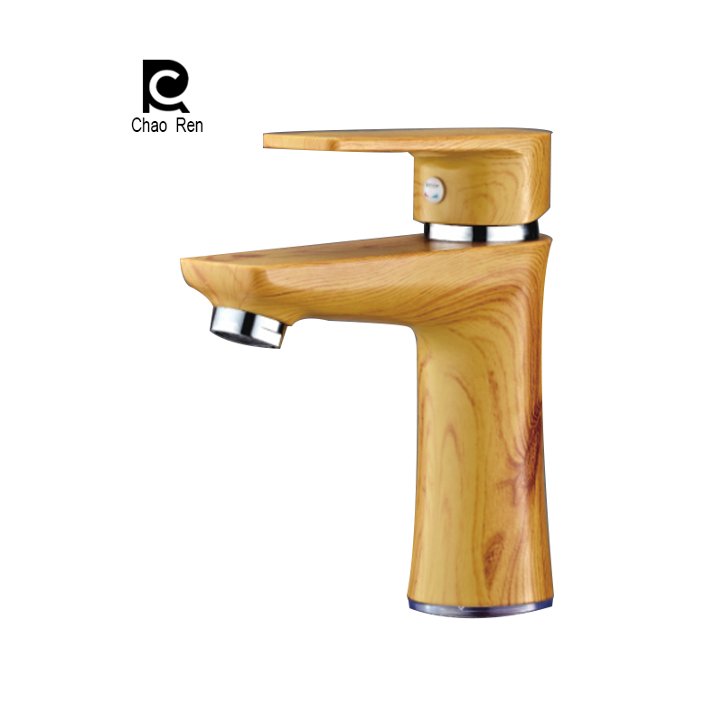Colorful ABS Plastic tap basin Faucet Hot & Cold mixer Copper surface bathroom Deck mounted faucet