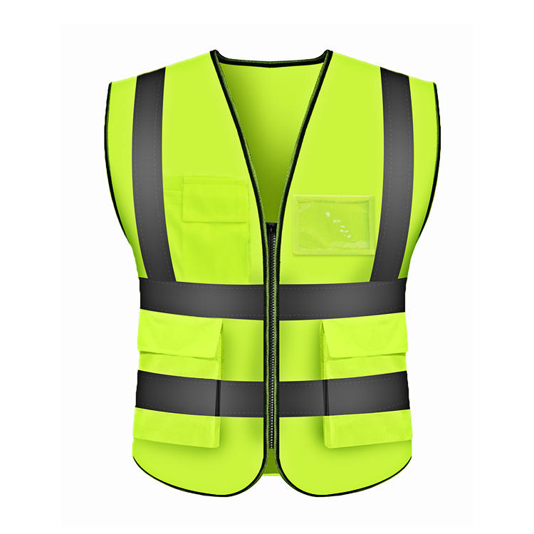 High Visibility Construction Reflective Belt Vest Polyester Green Fabricreflective Safety Jogging Cycling Running