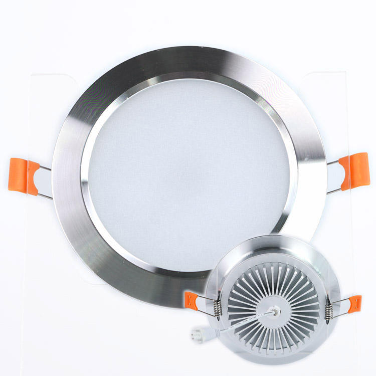 High power Embedded chroom wit 3W 5W 7W 15W 220V cut-out D165mm verzonken downlight <span class=keywords><strong>dimbare</strong></span> led