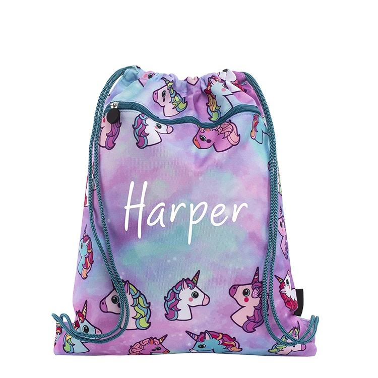 Hot style custom natural printed organic cotton promotion gift 100% canvas draw string bag backpacks rucksack for teen girls