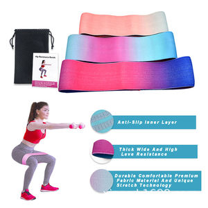 Custom fitness Best Latex Assisted Hip With Hip Circles Workout Gradient exercise resistance bands gym fitness equipment