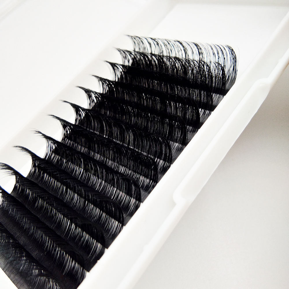20MM CC DD Curl Mink Lash Extention Eyelash Grafting One By One Custom Lash Tray Lash Extension