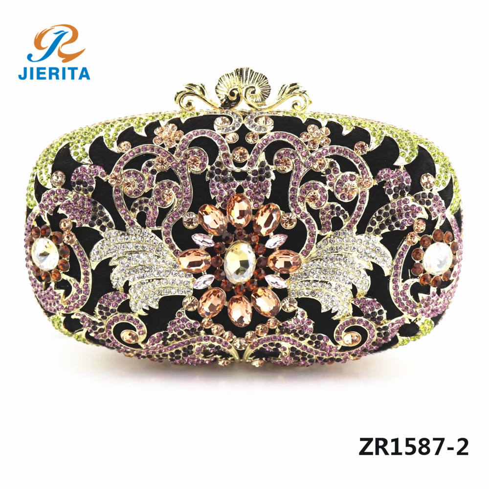 ZR1587 Beautiful new design crystal clutch bag use for lady party