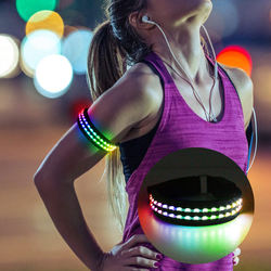 2019 New Design Double Fiber LED Light up Armband for Running