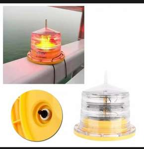 Solar powered panel Marine Navigation to Aids light flashing lantern for waterways